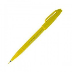 Pentel Touch Sign Pen - Yellow