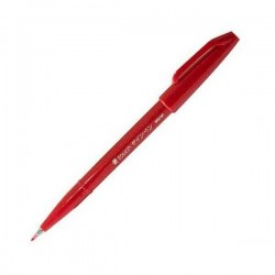 Pentel Touch Sign Pen - Red