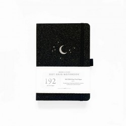 A5 Forest Night 192 Pages Dot Grid Notebook