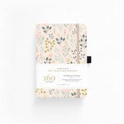 A5 Pink Flowers Dot Grid Notebook - PREORDINE