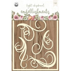 P13 - LIGHT CHIPBOARD EMBELISHMENTS ALWAYS AND FOREVER 01