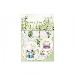 P13 - DECORATIVE TAGS - THE GARDEN OF BOOK