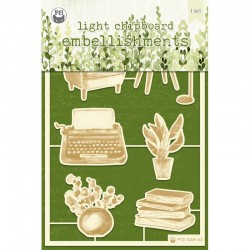 P13 - LIGHT CHIPBOARD EMBELISHMENTS THE GARDEN OF BOOK 01
