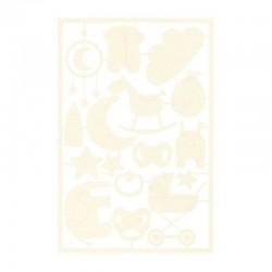 P13 - LIGHT CHIPBOARD EMBELISHMENTS BABY JOY 03