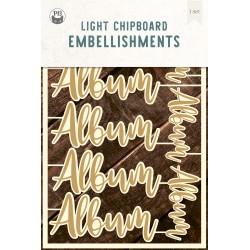 P13 - LIGHT CHIPBOARD EMBELISHMENTS ALBUM