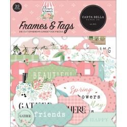 CARTA BELLA - FLOWER GARDEN - Frames & Tags