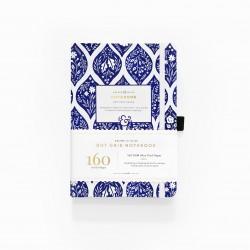 A5 Fleur de Bleu Dot Grid Notebook