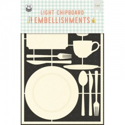 P13 - AROUND THE TABLE - LIGHT CHIPBOARD EMBELLISHMENTS  01