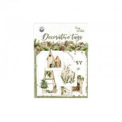 P13 - DECORATIVE TAGS COZY WINTER 03, 7SZT. - PREVENDITA