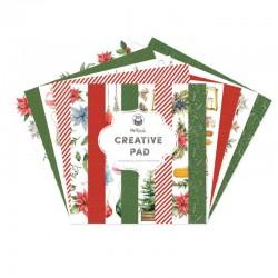 P13 - MAXI CREATIVE PAD COZY WINTER - RED AND GREEN, 12X12'' - PREVENDITA