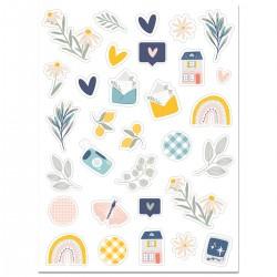 Cocoloko -  Picnic - Set di puffy stickers adesivi