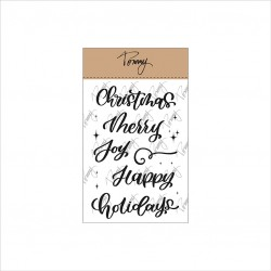 TOMMY ART CLEAR STAMPS – MERRY CHRISTMAS