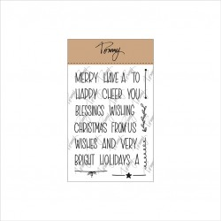 TOMMY ART CLEAR STAMPS – MINI CHRISTMAS WORDS
