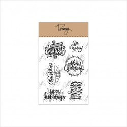 TOMMY ART CLEAR STAMPS – CHRISTMAS COMPOSITION