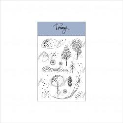 Tommy clear stamps – Snowglobe Landscape