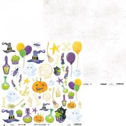 "P13 - PAPER HAPPY HALLOWEEN 07, 12X12"""