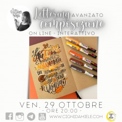 LETTERING Avanzato & COMPOSIZIONE con Elisa - SOLO CORSO