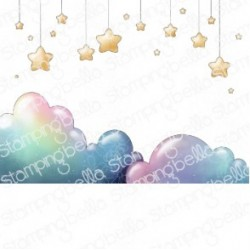 STAMPING BELLA - BUNDLE GIRL STARS AND CLOUDS BACKDROP
