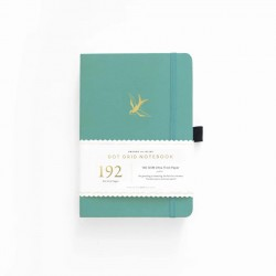 A5 Gliding Swallow 192 Pages Dot Grid Notebook