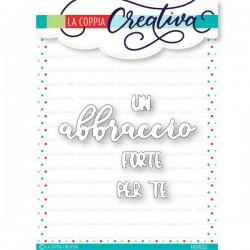 LA COPPIA CREATIVA - GRANDE ABBRACCIO FUSTELLE